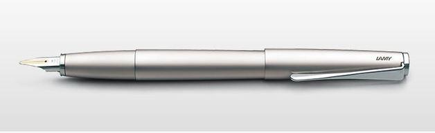 Lamy studio Fountain Pen - Palladium (14kt Gold Medium Nib)