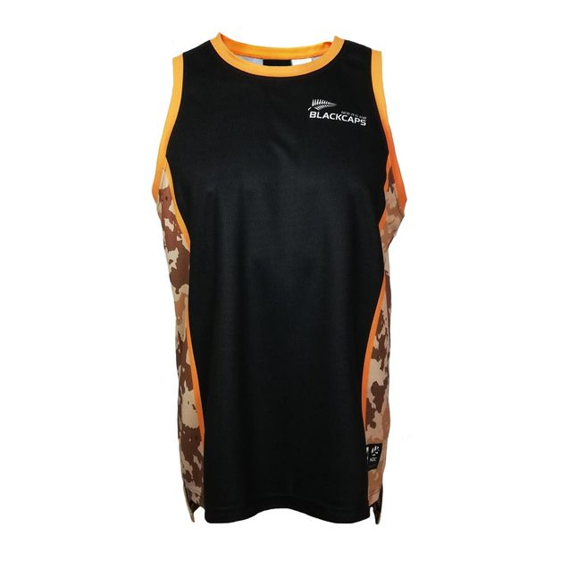 Blackcaps Supporters Camo Singlet (X-Large)