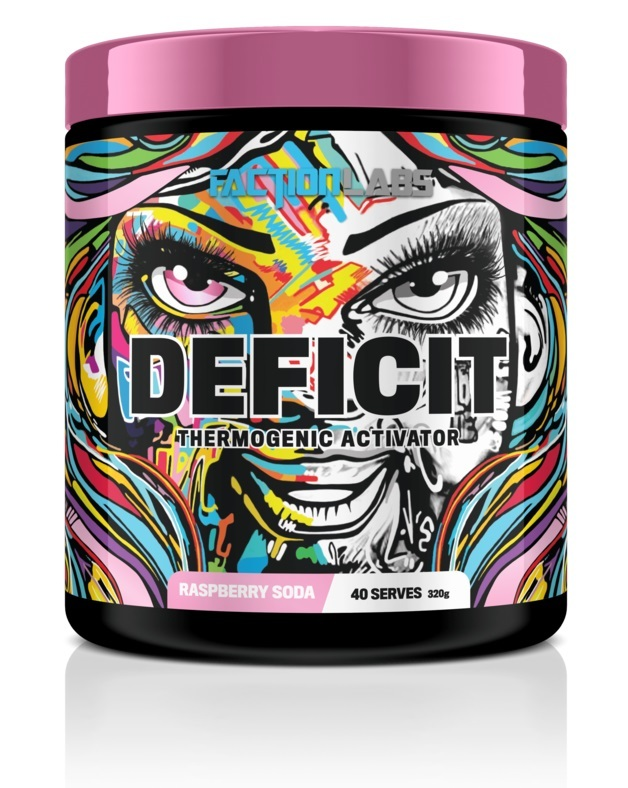 Faction Labs: Deficit Thermogenic Activator - Raspberry Soda (320g - 40 Serves)