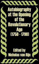 Autobiography at the Opening of the Revolutionary Age (1750 - 1790) image