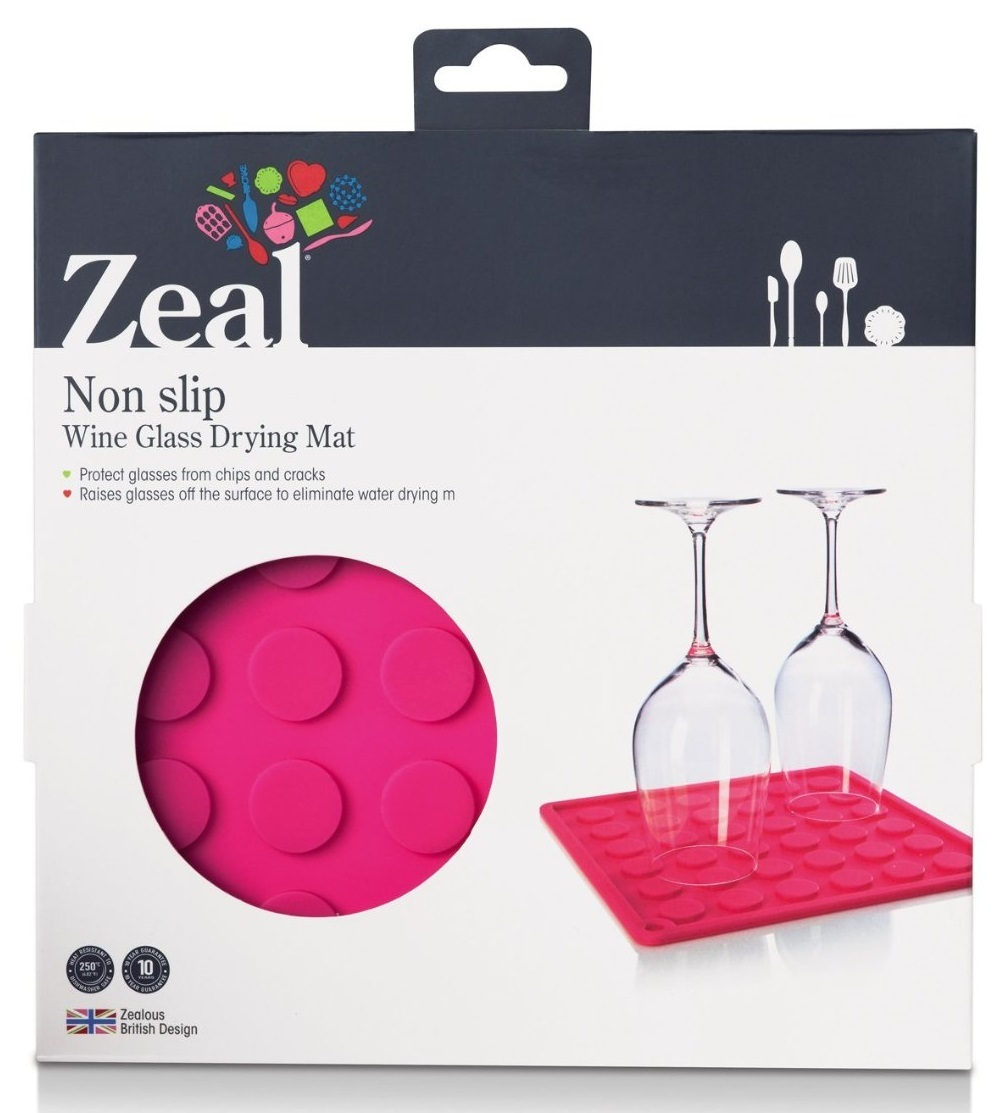 hot pink kitchen accessories zeal mat | Zeal Draining Mat and Trivet (Pink) | at Mighty Ape NZ