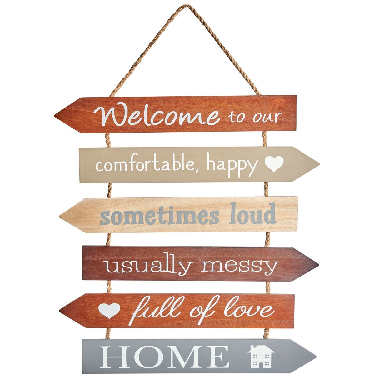 """Welcome to our Home"" Wall Hanging image"