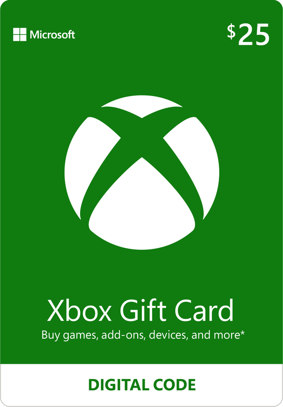 Xbox Live $25 Gift Card (Digital Code) for Xbox One