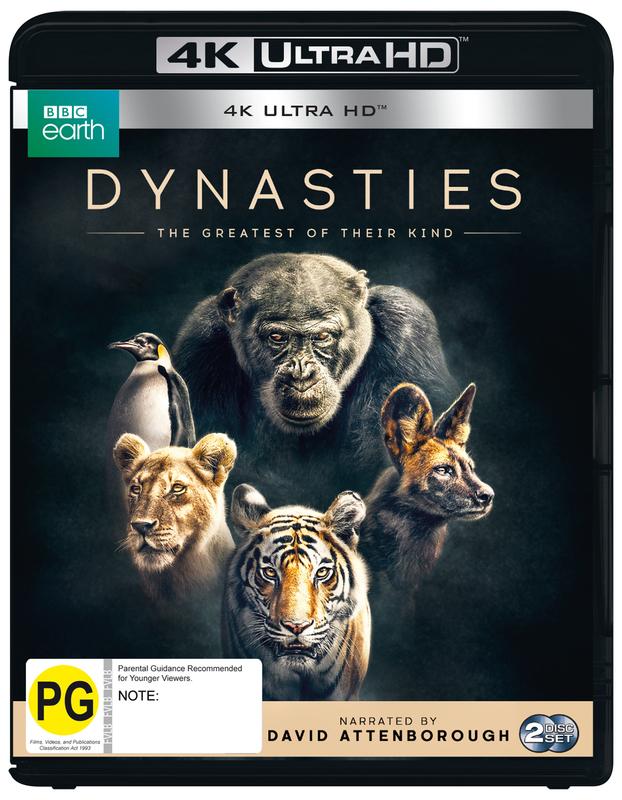 Dynasties: The Greatest Of Their Kind (4K UHD Blu-ray) on UHD Blu-ray