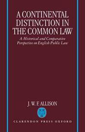 A Continental Distinction in the Common Law by J. W. F. Allison image