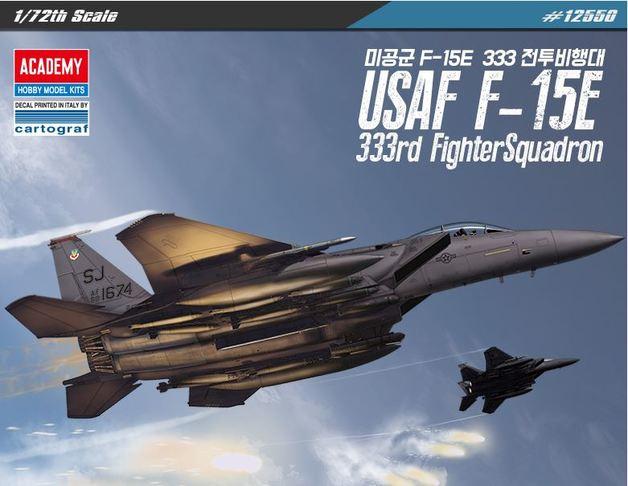 "Academy 1/72 USAF F-15E ""333th Fighter Squadron"" - Scale Model"