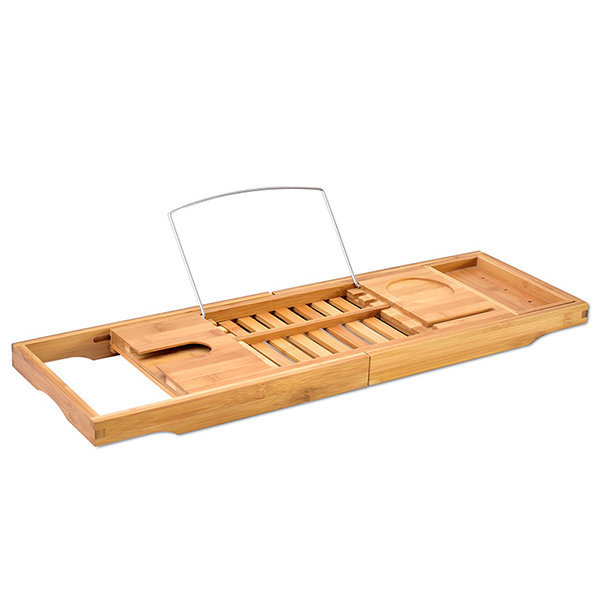 Bamboo Extending Bath Caddy - Natural