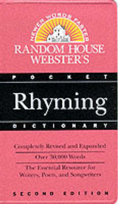 Random House Webster's Pocket Rhyming Dictionary by Random House Inc