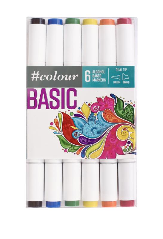 #Colour: Marker Set - Basic (6 Pack)