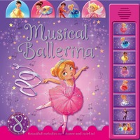 Tabbed Sound Book – Musical Ballerina with 8 sounds