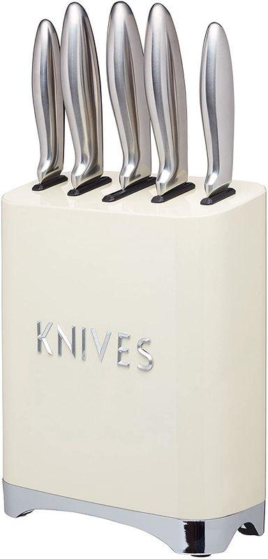 KitchenCraft: Lovello 5pc Knife Block Set - Cream