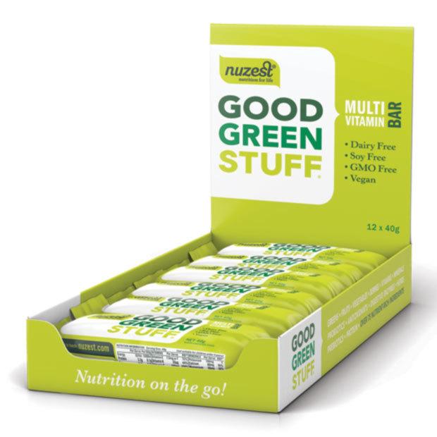 NuZest Good Green Stuff Bars - 12x40g