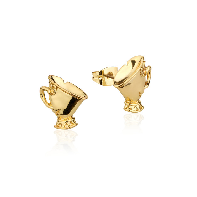 Couture Kingdom: Disney Beauty and the Beast Chip Studs - Yellow Gold