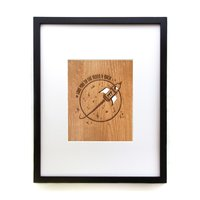 Cardtorial Wooden Print - Love You To The Moon & Back image