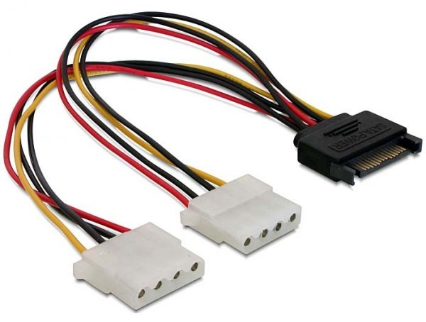 Digitus SATA Power to 2x Molex Cable (0.15m)