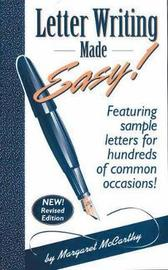 Letter Writing Made Easy! by Margaret McCarthy image