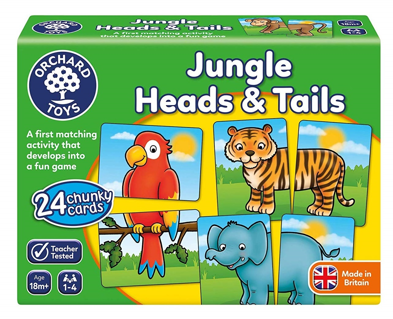 Orchard Toys: Jungle Heads & Tails - Children's Game image