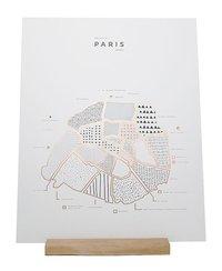 ROAM by 42 Pressed Map Prints (Paris)