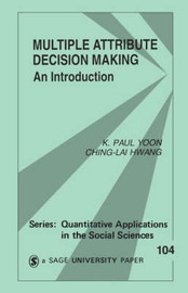 Multiple Attribute Decision Making by K.Paul Yoon image