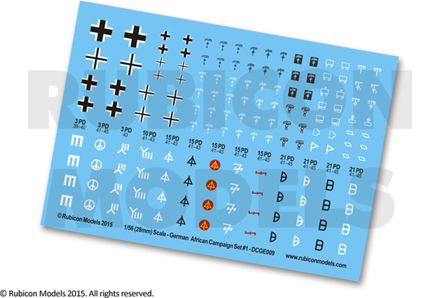 Rubicon 1/56 Decals: German African Campaign Set 1