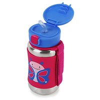 Skip Hop: Zoo Stainless Steel Straw Bottle - Butterfly image