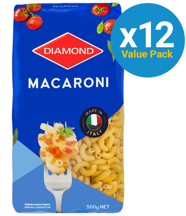 Diamond: Macaroni Elbows Pasta 500g (12 Pack)