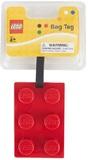 LEGO Stationery - Luggage Bag Tag Brick Shape (Red)