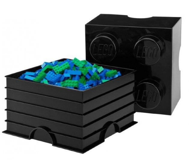 LEGO: Storage Brick 4 - Black