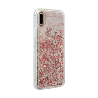 3SIXT PureGlitz Case for iPhone X/XS - Rose Gold/Silver