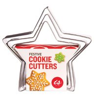 IS GIFT: Festive Cookie Cutters - Stars (Set Of 3)