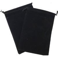 Suede Cloth Dice Bag (Large, Black) image
