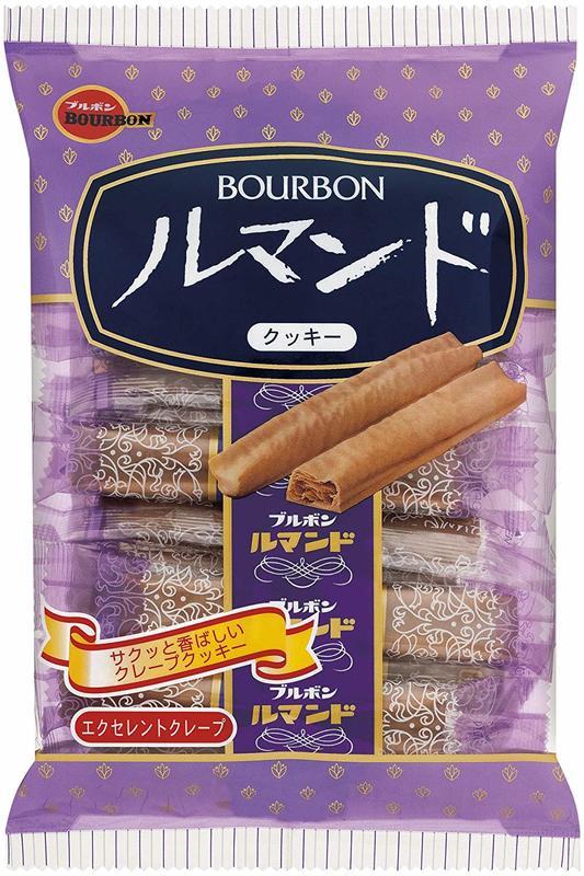 Lumonde Bourbon Crispy Crepe Biscuit Stick 96g