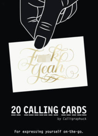 F**k Yeah! Calling Cards by Calligraphuck