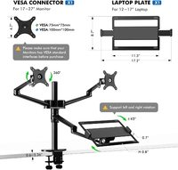 Gorilla Arms Dual Monitor Arm w/ Laptop Holder