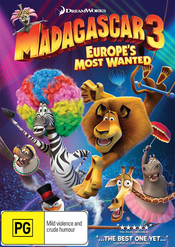 Madagascar 3: Europe's Most Wanted on DVD