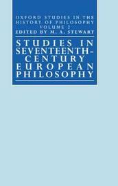 Studies in Seventeenth-Century European Philosophy image