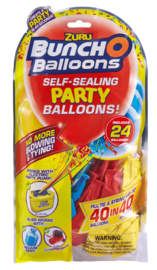 Bunch O' Balloons: Self Sealing Party Balloons - (24 x Red/Blue/Yellow)