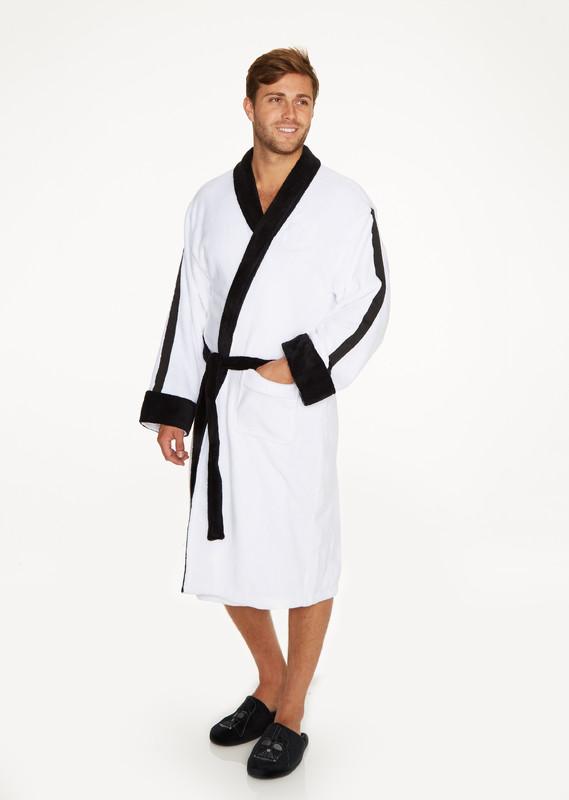Star Wars: Stormtrooper Embossed Hoodless Robe - Black & White Men's (One Size)