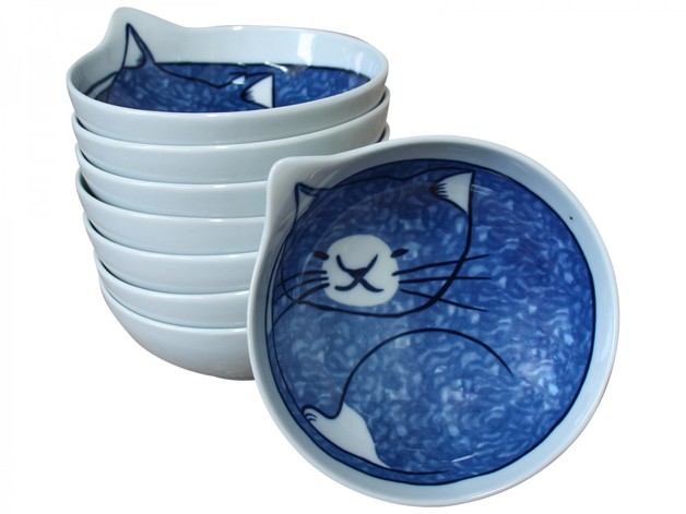 LaVida: Bowl - Sleepy Cat (Medium)