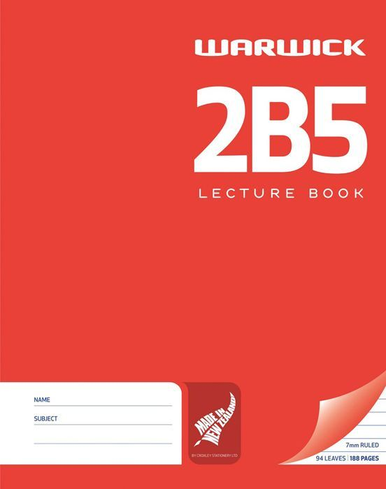 Warwick 2B5 94lf 7mm Ruled Lecture Book image