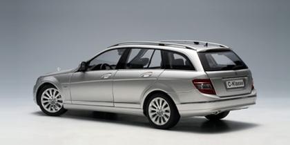 AUTOart 1/18 Mercedes Benz C Class T-Model S204 Elegance (Silver) Diecast Model image