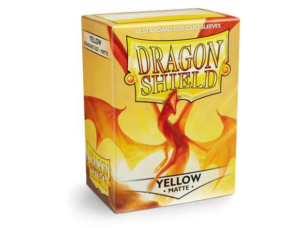 Dragon Shield Matte Yellow Sleeves
