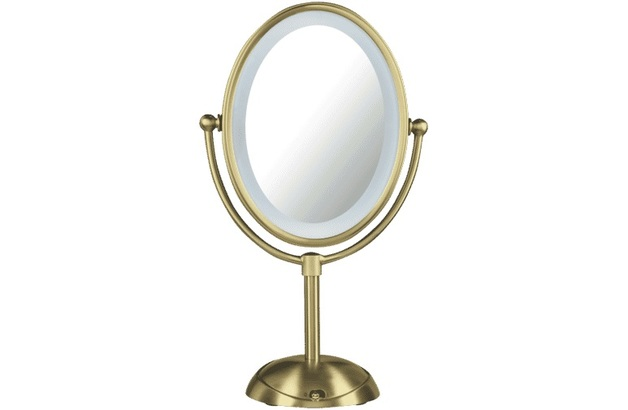 LED Gold Lighted Mirror