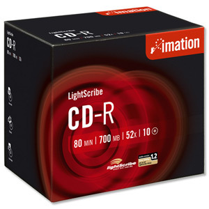 Imation Lightscribe CD-R 52X 10 PACK JEWEL CASE image