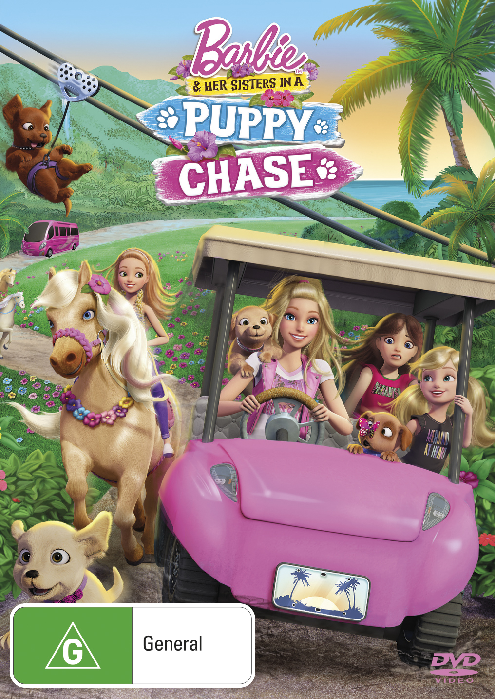 Barbie & Her Sisters In A Puppy Chase on DVD image