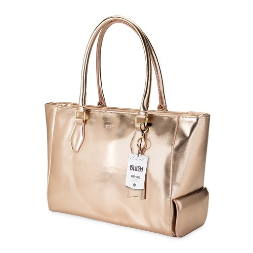 Blush: Insulated Wine Tote - (Rose Gold) image
