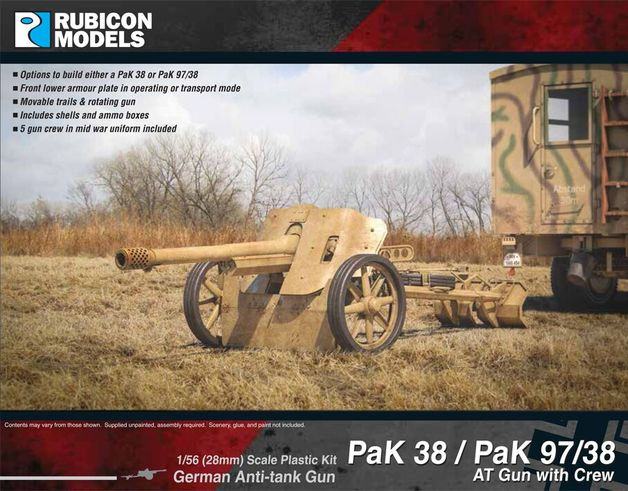 Rubicon 1/56 German PaK 38 / PaK 97/38 AT Gun with Crew