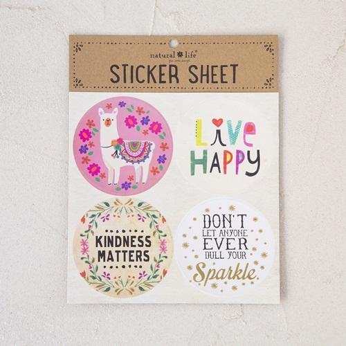 Natural Life: Sticker Sheet - Llama