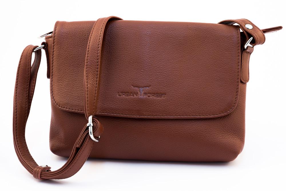 Urban Forest: Rosa Small Leather Handbag - Redwood image