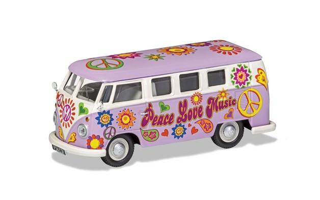 "Corgi: 1/43 VW Camper ""Peace, Love and Music"""